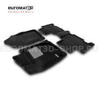 Текстильные 3D коврики Euromat3D Business в салон для Toyota Rav 4 (2013-2019) № EMC3D-005125