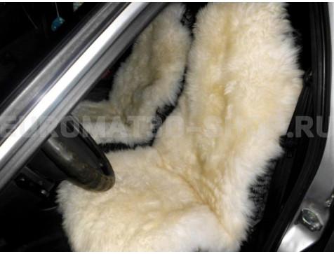 Меховая накидка из натуральной овчины Euromat Tex (цельная не стриженная ) бежевая № EUSH-003003