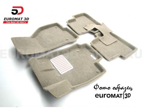 Текстильные 3D коврики Euromat3D Lux в салон для Cadillac SRX (2003-2009) № EM3D-001303T Бежевый