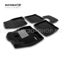 Текстильные 3D коврики Euromat3D Business в салон для Ford Explorer (2015-) № EMC3D-002217